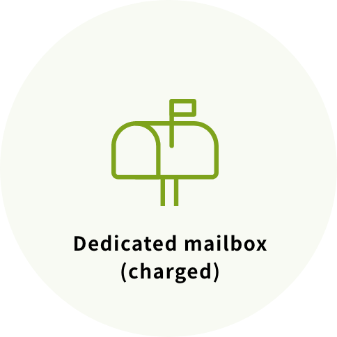 Dedicated mailbox(charged)
