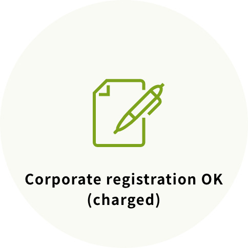 Corporate registration OK(charged)