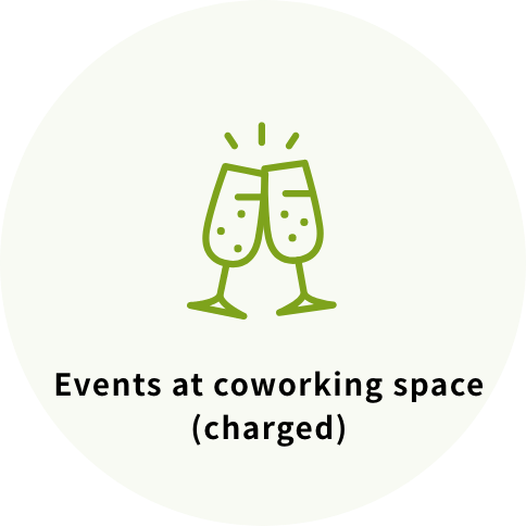 Events at coworking space (charged)