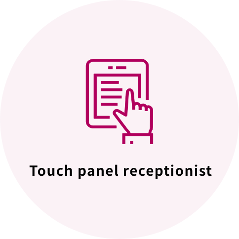 Touch panel receptionist