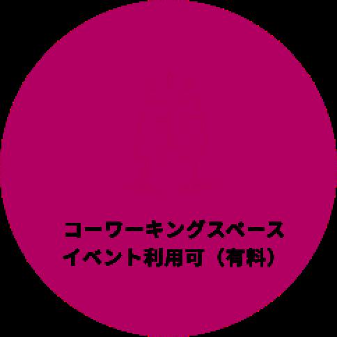 コーワーキングスペース イベント利用可(有料)